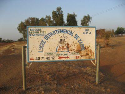 lycée de Zabré Burkina Entraide